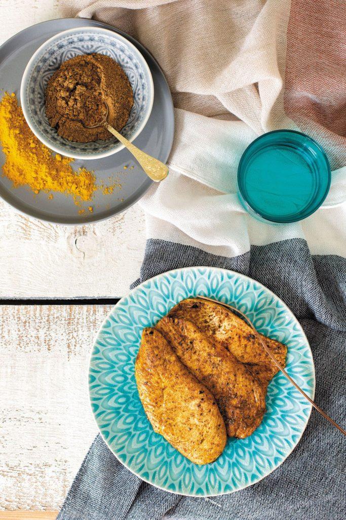 Filetes de pollo al estilo indio
